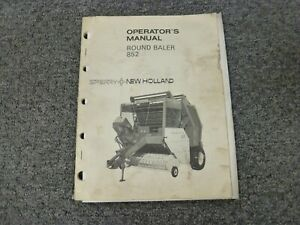 Sperry New Holland 852 Round Baler Owner Operator Maintenance Manual