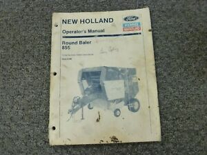 Ford New Holland 855 Round Baler Owner Operator Maintenance Manual