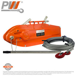 Prowinch Lever Wire Rope Puller Hoist 11 880 Lbs 65 Ft Wire Rope