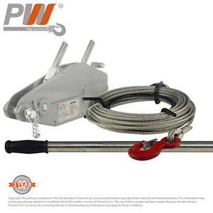 Prowinch 1760 Lbs 800kg Lever Wire Rope Puller Hoist 65 Ft Wire Rope
