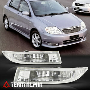 Fits 2000 2007 Toyota Corolla 4dr Clear Bumper Fog Light Lamp W Switch Harness