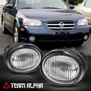 Fits 2002 2003 Nissan Maxima Pair Oe Clear Bumper Fog Light Driving Lamp W Bulb