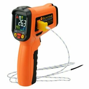 Ir Laser Thermometer K type Thermocouple 50 800 c 58 1472 f Color Display