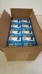 Lot Of 10 Ideal 30 072 Wire nut Wire Connector 72b Blue 100 box 1000 Total