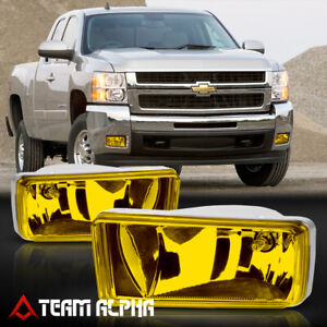 For 07 15 Chevy Silverado suburban sierra Yellow Fog Light Lamp W switch harness