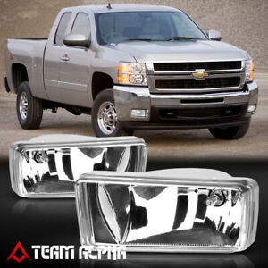 For 07 15 Chevy Silverado suburban sierra Chrome Fog Light Lamp W switch harness