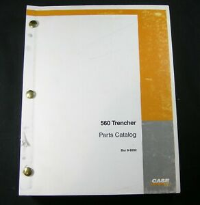Case 560 Trencher Tractor Backhoe Plow Boring Parts Manual Book Catalog 8 9202