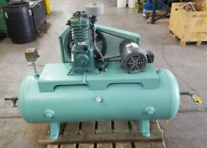 Curtis toledo D96 Air Compressor 80 Gallon 3 Phase 5 Hp Dayton Energy Motor