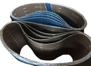 Blue Zirconia 8 X 29 5 36 Grit Floor Sanding Belts Hummel Lagler box Of 10