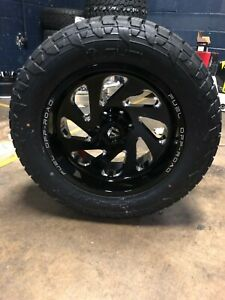 20x10 Fuel D637 Vortex 33 At Wheel And Tire Package 6x5 5 2019 Gmc Sierra 1500