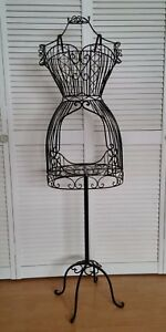 New Vintage Style Black Metal Mannequin Dress Form display Rack With Garment Bag