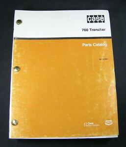 Case 760 Trencher Tractor Backhoe Plow Boring Parts Manual Book Catalog 8 3004