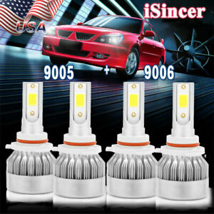 9005 9006 Combo Led Headlight Hi Lo Beam For Honda Civic 2004 2013 Camry 2000 06