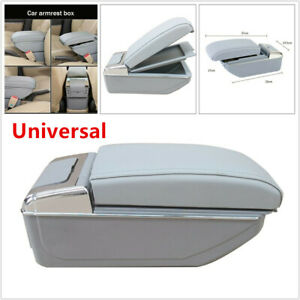 Universal 7usb Rechargeable Suv Car Central Container Armrest Storage With Light