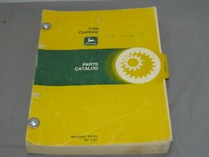 Vintage John Deere 7700 Combine Parts Catalog Original Oem Pc 1167 1978