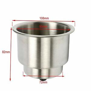 8 Pack Stainless Steel Recessed Cup Drink Holder For Marine Boat Car Truck Rv Us