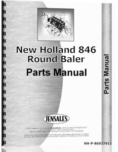 New Holland 846 Round Baler Parts Manual Catalog