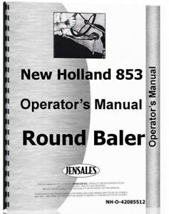 New Holland 855 Round Baler Operators Owners Manual