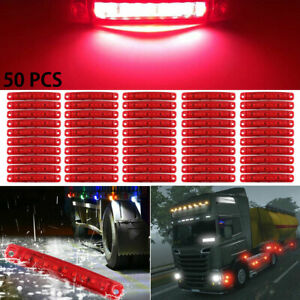4 X 9 Led Red Side Tail Marker Lights Lamps Position For Truck Trailer Lorry 24v
