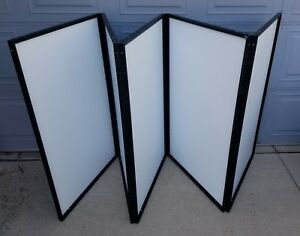10 Panel Arts Crafts Folding Display Board Hard Travel Case Trade Show