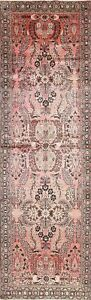 Lilian Persian Hamedan 4x12 Wool One Of A Kind Floral Oriental Runner Rug Long
