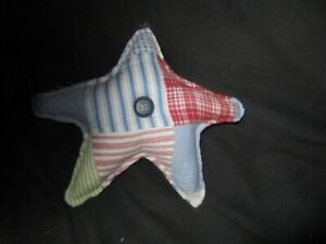 Primitive Americana Quilted Star Red White Blue 9b