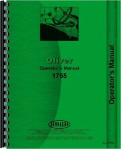 Oliver 1755 Tractor Operators Owners Manual
