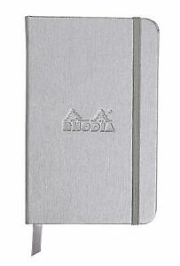 Rhodia Webnotebook Silver Lined 96 Sheets A6 3 5 X 5 5 New R118067