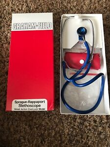 Vintage Graham Field Sprague Rappaport Stethoscope Nurse Doctor