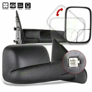 Lh Rh Side Power Heated Pair Fit 2002 2008 Dodge Ram Pickup Tow Mirrors