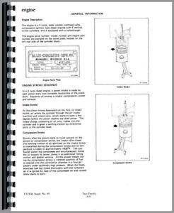 Service Manual Allis Chalmers 210 220 Tractor