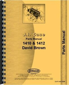 Case David Brown 1410 1412 Tractor Parts Manual Catalog