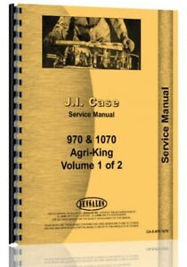 Service Manual Case 1070 970 Agri King Diesel Tractor