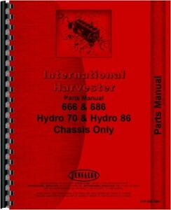 International Farmall 70 86 Hydro 666 686 Tractor Chassis Only Parts Manual