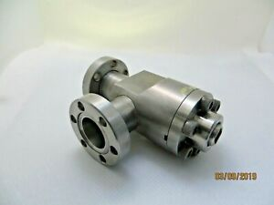 Varian 951 5014 All metal Manual Right angle Valve bakeable