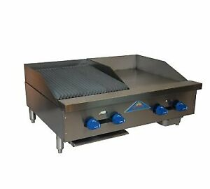 Comstock castle Fhp36 18 1 5rb 36 Countertop Gas Griddle Charbroiler