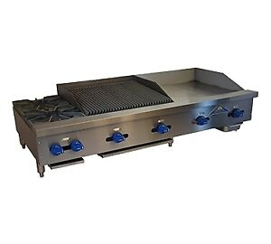 Comstock castle Fhp72 30 2 5rb 72 Countertop Gas Griddle Charbroiler