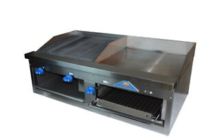Comstock castle Fhp48 2rb 24b 48 Countertop Gas Griddle Charbroiler