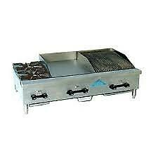 Comstock castle Fhp60 24 3rb 60 Countertop Gas Griddle Charbroiler