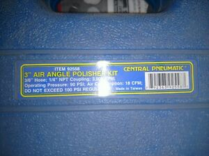 Central Pneumatic 3 Air Angle Polisher Kit