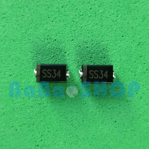 50pcs 2000pcs Toshiba Ss34 Schottky Barrier Diode Sma Smd 1n5822 Do 214ac