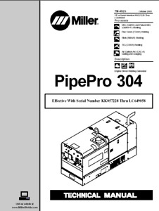 Miller Pipepro 304 Service Technical Manual