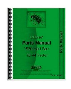 Parts Manual 1930 Oliver Hart Parr 28 44 Tractor