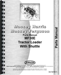 Massey Ferguson 30e Tractor Loader Parts Manual Catalog Shuttle Transmission