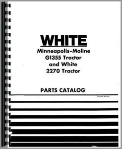 Minneapolis Moline G1355 Oliver White 2270 Tractor Parts Manual Catalog