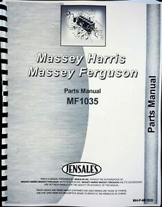 Parts Manual Massey Ferguson 1035 Diesel Compact Tractor