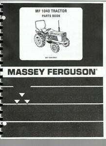 Parts Manual Massey Ferguson 1040 Diesel Compact Tractor