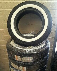 4 P235 75r 15 Inch White Wall Tires 1 1 2 Ww Band Thick Fat Wide Gangster New