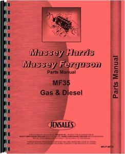 Massey Ferguson 35x 35 Tractor Parts Manual Catalog