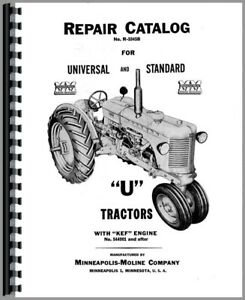 Parts Manual Minneapolis Moline Uts U Tractor W kef Engine Sn To 334000